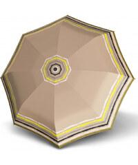 Doppler Dámský mini skládací mechanický deštník Fiber Lolita Mini Raja - béžový 710165RA03