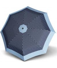 Doppler Dámský skládací plně automatický deštník Hit Magic Punti - modrý 7440265PU01