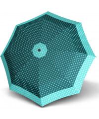 Doppler Dámský skládací plně automatický deštník Hit Magic Punti - zelený 7440265PU03