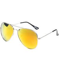 Meatfly Sluneční brýle Tomcat A - Silver / Orange