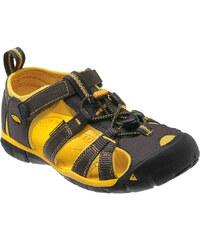 KEEN Dětské sandály Seacamp II CNX Raven/Yellow