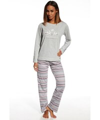 Cornette Dámské bavlněné pyžamo Snowflake