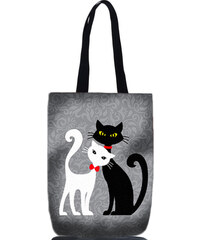 Lecharme Elegantní taška Black & White Kočky