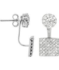 JwL Jewellery Elegantní dvojnáušnice se zirkony JL0198