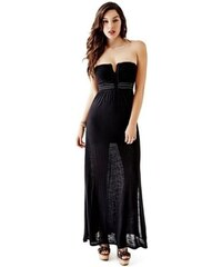 Guess Dámské šaty Strapless Applique Maxi Dress - 2