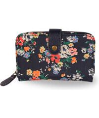 Candy Flowers Elegantní modrá peněženka s květy S180-317