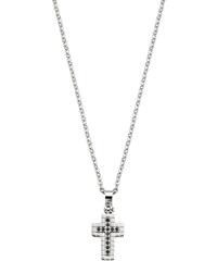Morellato Pánský ocelový náhrdelník s křížem a krystaly Motown SAEV11