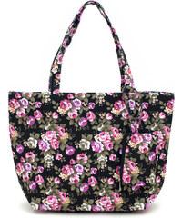 Art of Polo Dámská pestrobarevná letní taška - černá s květy tr16123.3