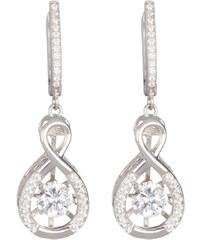 Preciosa Stříbrné náušnice s krystaly Precision 5187 00