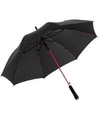 Fare Dámský holový vystřelovací deštník Colorline black-magenta 1083