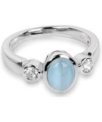 Silver Cat Stříbrný prsten s kočičím okem a zirkony SC171