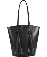 Lecharme Elegantní černá business kožená kabelka 5832