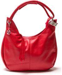 Carla Ferreri Elegantní kožená business kabelka 1022 Rosso