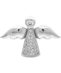 Brilio Silver Stříbrný přívěsek Anděl se zirkony 7420599