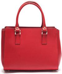 Mangotti Elegantní kožená kabelka 3040 Rosso