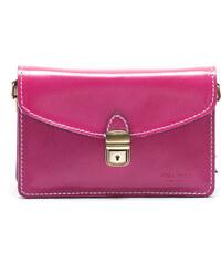 Mangotti Elegantní kožená kabelka 3041 Fucsia