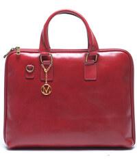Mangotti Elegantní kožená kabelka 375 Rosso