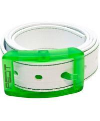 PELT Ekologický prošívaný opasek Stitch White/Green