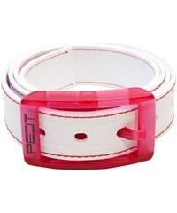 PELT Ekologický prošívaný opasek Stitch White/Pink
