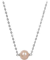 JwL Jewellery Stříbrný náhrdelník s lososovou perlou JL0245