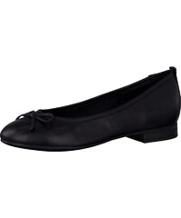 Tamaris Elegantní kožené baleríny 1-1-22114-27 Black