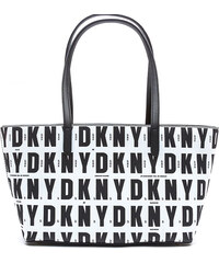 DKNY Elegantní černobílá kabelka Top Zip Shopper