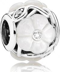 Pandora Luxusní korálek Perleťové květy 791894MOP