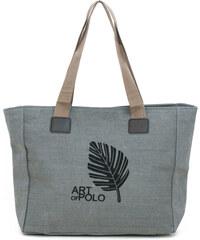Art of Polo Šedá nákupní taška Leaf tr16126.1