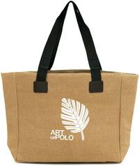 Art of Polo Béžová nákupní taška Leaf tr16126.2