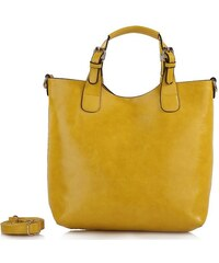Lecharme Elegantní žlutá kabelka Jaune 168001