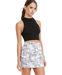 Forever 21 Dámská sukně Abstract Crosshatch Mini Skirt