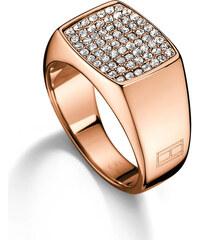 Tommy Hilfiger Bronzový prsten s krystaly TH2700734