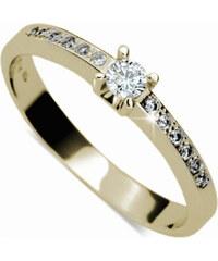 Danfil Krásný zásnubní prsten s diamanty DF1917z