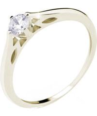Danfil Luxusní zásnubní prsten ze žlutého zlata DF2411z