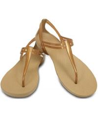 Crocs Dámské sandály Crocs Isabella T-strap Bronze 202467-854