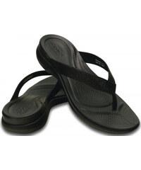 Crocs Dámské žabky Capri V Shimmer Flip Black 202845-001
