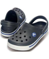 Crocs Dětské pantofle Crocband II.5 Clog Kids Charcoal/Sea Blue 12837-08p