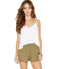 Forever 21 Dámské šortky Boxy Woven Shorts - zelené