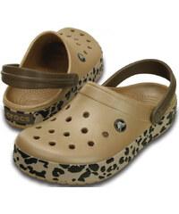 Crocs Dámské pantofle Crocband Leopard Clog Gold/Black Leopard 203171-70n