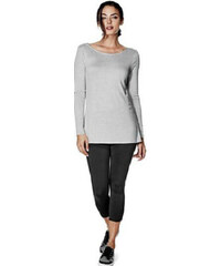 Guess Dámský elegantní šedý top Jessalin Long-Sleeve Cowl-Back Top