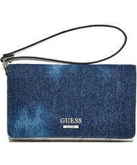 Guess Gues Elegantní peněženka Shelly Dark Denim Phone Organizer