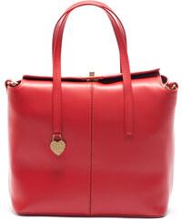 Mangotti Elegantní kožená kabelka 387 Rosso - SLEVA