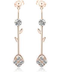 Vicca® Dlouhé bronzové náušnice s krystaly Carey OI_Z152289-2