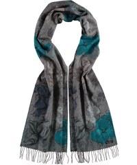 FRAAS Cashmink-Schal mit floralem Muster in grau