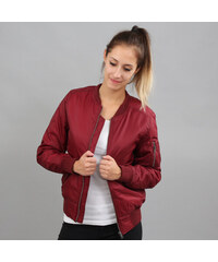 Urban Classics Ladies Basic Bomber Jacket vínová