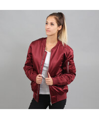 Urban Classics Ladies Satin Bomber Jacket vínová