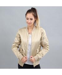 Urban Classics Ladies Satin Bomber Jacket zlatá