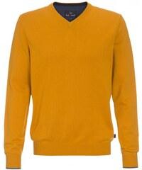 Paul R.Smith Herren Strickpullover Comfort bequem V-Ausschnitt gelb aus Baumwolle