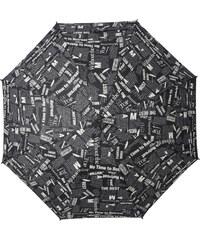 s.Oliver Dámský holový vystřelovací deštník Look Good News - černý 71467SON18-1