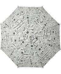 s.Oliver Dámský holový vystřelovací deštník Look Good News - bílý 71467SON18-2